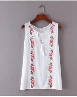 BM70313 Pretty Embroidered Top White