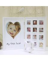 SWK91002 Baby First Year Photo Frame White
