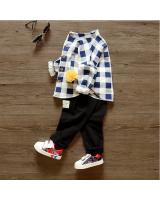 SWK91010 Cute Checker Top and Pant Set Blue