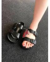 RA004D Thailand Red Apple Double Stripes Shoes(BLACK COLOUR)