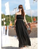 SWK91022 Stylish Tube Dress Black