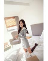 SWK91028 Fashion Hooded Dress Grey