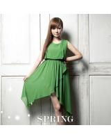 BM70365 Lovely Chiffon Dress Green