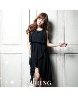 BM70365 Lovely Chiffon Dress Black