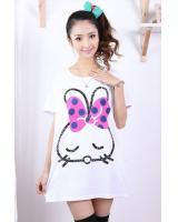 SWK91031 Cute Bunny Dress White