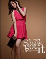WD21144 Stylish Dress Dark Pink