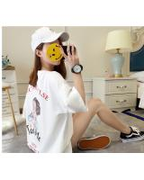 BGS2849 Loose T Shirt White