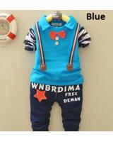 SWK91033 Cute Kids Top and Pant Set Blue