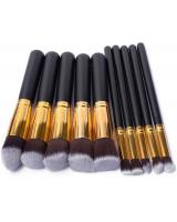 SH-607 Make Up Brush Set (10pcs IN 1) Black Gold