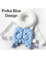 SH-611 Baby/Toddler Head Protection Pillow Cushion Pad Polka Blue Design