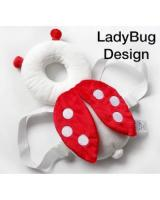 SH-611 Baby/Toddler Head Protection Pillow Cushion Pad Lady Bug Design