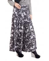 QA-388 Casual Printed Palazzo White Floral