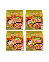 JP012 Samyang Hot Spicy Curry Ramen PROMO COMBO OF FOUR - 4X5PX140G