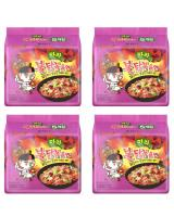 JP012 Samyang Mala Hot Chicken Ramen PROMO COMBO OF FOUR - 4X5PX140G