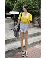 KB10056 Casual Top Yellow