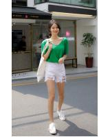 KB10056 Casual Top Green