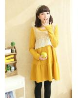 WD21415 Lovely Maternity Dress Yellow