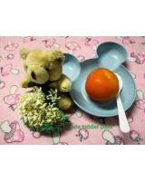 ZC-001 Cute Toddler Plate Blue