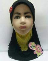 ZC-003 Pony Baby Hijab Yellow