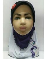 ZC-003 Pony Baby Hijab Purple
