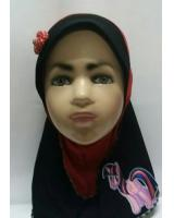 ZC-003 Pony Baby Hijab Red