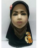 ZC-003 Pony Baby Hijab Dark Brown