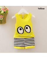SWK91038 Cute Top and Pant Set Yellow