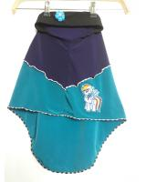 ZC-003 Pony Baby Hijab Green+Purple