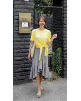 KB10095 Fashion Top Yellow