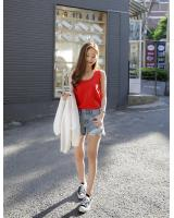 KB10097 Sleeveless Top Red