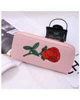 KW80339 Ladies Rose Style Purse Light Pink