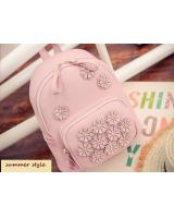 KW80341 Flowers Cute Backpack Light Pink