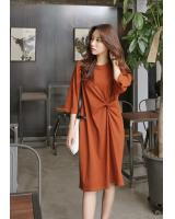KB10114 Stylish Dress Brown
