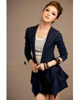 WJ7608 Women Casual Hooded Jacket Blue