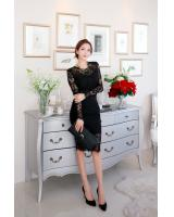 BM71075 Sexy Lace Top and Skirt Set Black