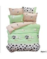 HL1001 Cute 3 in 1 Queen Fitted Bedsheet Set C