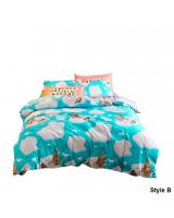 HL1004 Fashion 3 in 1 Queen Fitted Bedsheet Set B