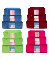HL1008 3pcs set Organizer Storage Bag Maroon