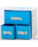 HL1011 3 in 1 DIY Storage Box Blue Horse
