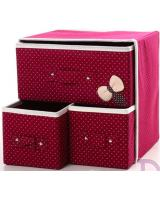 HL1011 3 in 1 DIY Storage Box Maroon