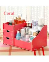 BL5000 Wooden Cosmetic Organizer Coral
