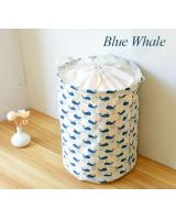 BL5006 Drawstring Laundry Basket Blue Whale