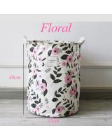 BL5008 Floral Laundry Basket As Picture