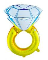 PB-303 Huge Size Diamond Ring Foil Balloon