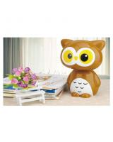 HM 813 Owl LED Night Lamp Brown