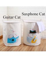 BL5011 Fashion Laundry Basket Saxphone Cat