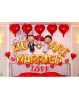 PB-304 We Are Married Wedding Ballon