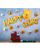 PB-306 Winnie The Pooh Cartoon Happy Birthday Balloon Set