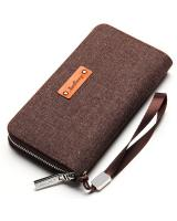 LG1008 Men's Long Wallet Brown