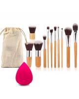 BL5016 2 in 1 Bamboo Makeup Brush Set As Picture